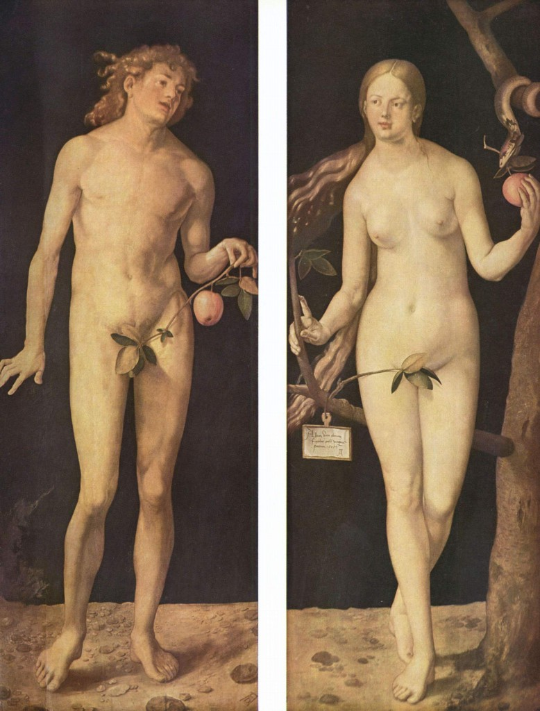Albrecht Dürer: Adam und Eva (1507). Quelle: wikimedia commons.