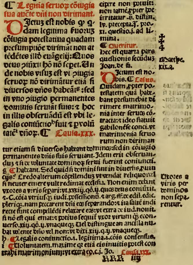 Causa XXIX q.2 C.8 mit der Glosse von Johannes Teutonicus