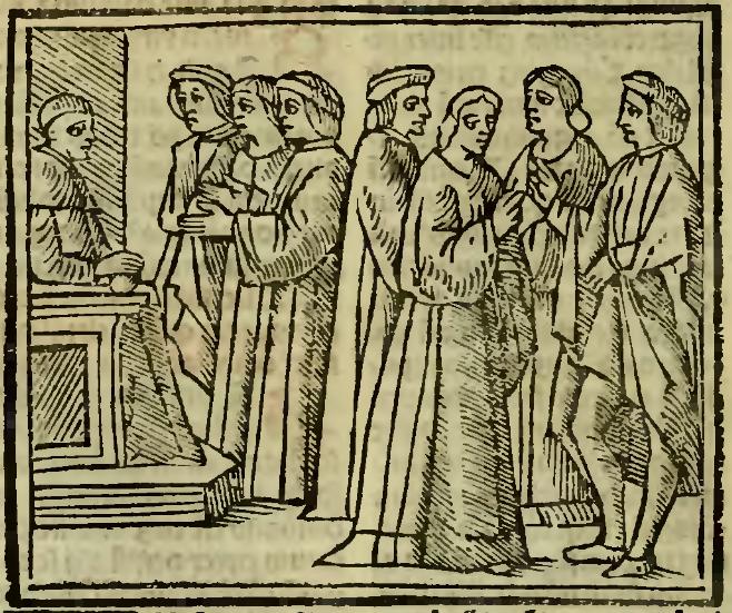 Illustration aus der Druckausgabe von 1514 des Decretum Gratiani zur Causa XXIX