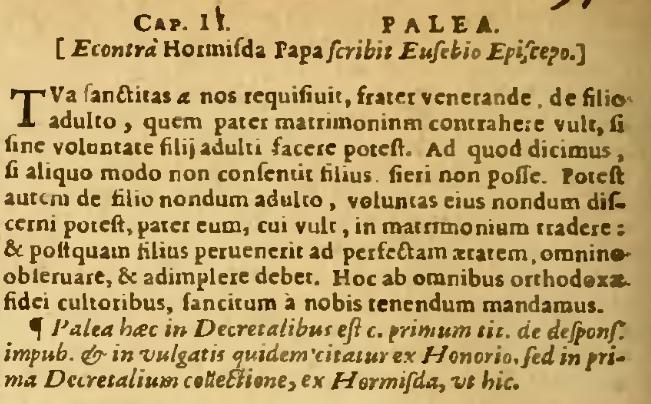 Palea-Tradition zur Causa XXXI Q2 C2 - Auflage von 1661