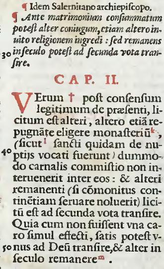 Gregor IX., Decretales Liber III, Tit. XXXII, C. 2 in der Druckausgabe von 1582