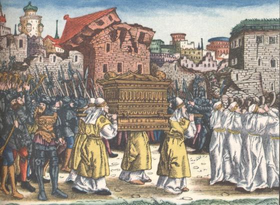 Cranach: Die Eroberung Jerichos in der Lutherbibel