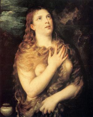 Tizian: Büßende Maria Magdalena, um 1533, Ölgemälde