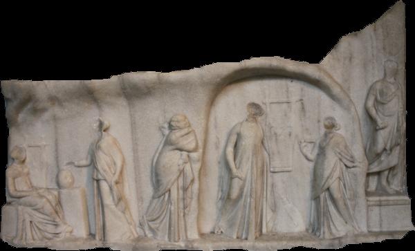 Archelaos von Priene Homer Relief: mittleres Drittel