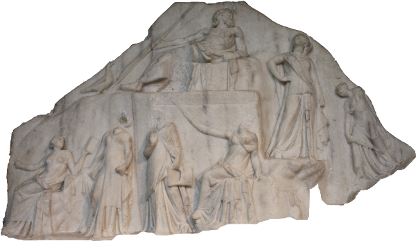 Archelaos von Priene Homer Relief: Oberes Drittel