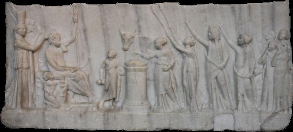 Archelaos von Priene Homer Relief: Unteres Drittel