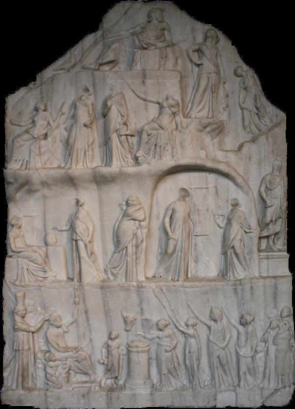 Archelaos von Priene Homer Relief: Gesamtansicht
