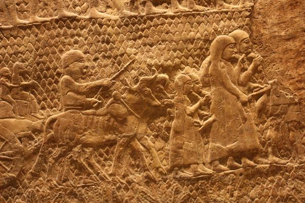Aus dem Lachisch-Relief Sanheribs in Ninive