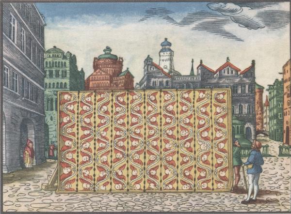 Lucas Cranach: Teppich im Tempel - Illustration aus der Lutherbibel zu Ex 26