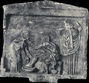 Od XIX 479-486: Odysseus, Eurykleia, Penelope