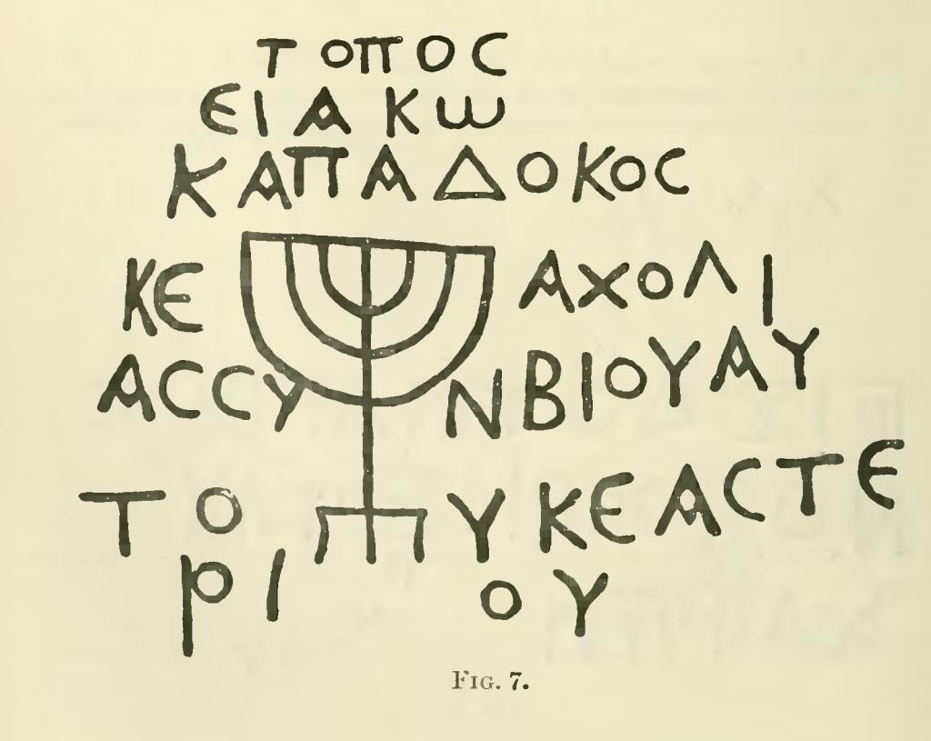 Grabinschrift des Kappadoziers Jakob und seiner Frau Acholia.