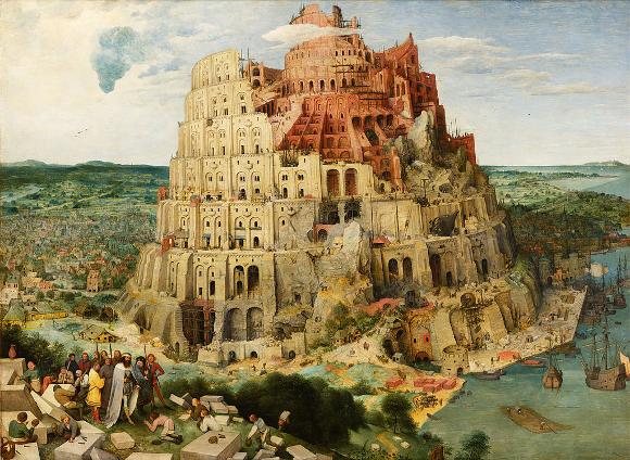 Pieter Bruegel: Der Turm von Babel; KHM Wien; wikimedia commons