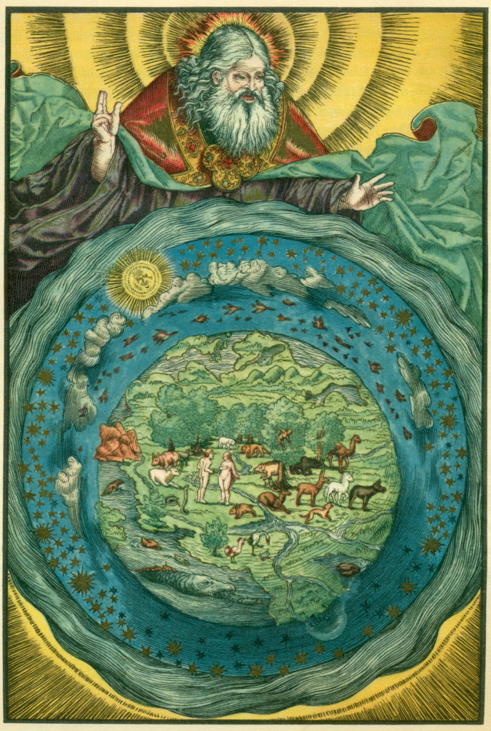 Lukas Cranach: Illustration zu Gen 1 in der Lutherbibel - auslegungssache.at