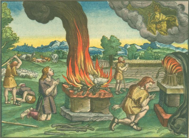 Lukas Cranach - Illustration zu Gen 4 in der Lutherbibel