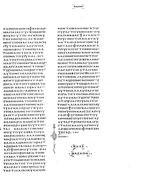 Markusschluss im Codex Vaticanus