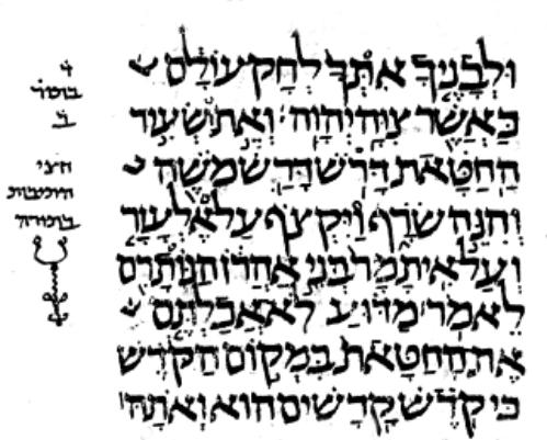 Lev 10,16 im Codex Leningradensis