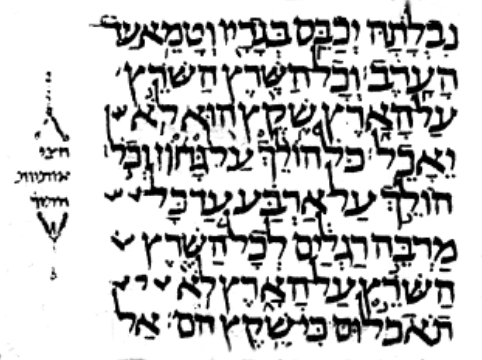 Lev 11,42 im Codex Leningradensis