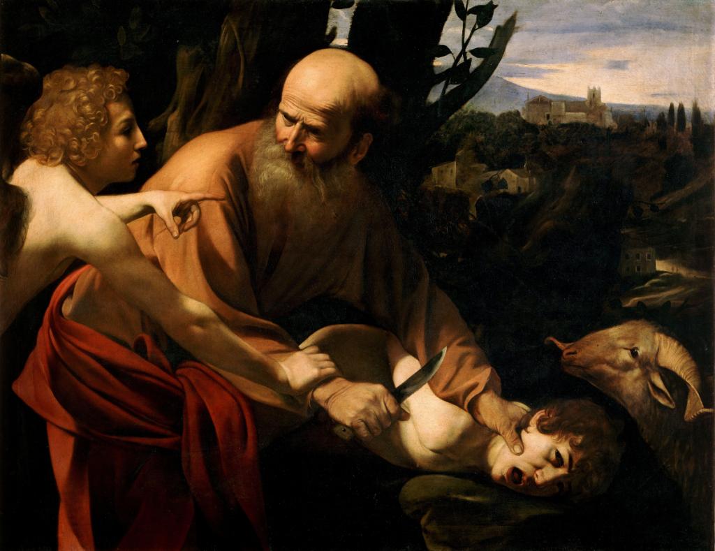 Caravaggio: Die Opferung Isaaks; Florenz - Uffizien; Quelle: wikimedia commons
