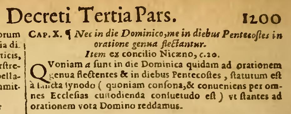 Aus dem Decretum Gratiani, Ausgabe 1661