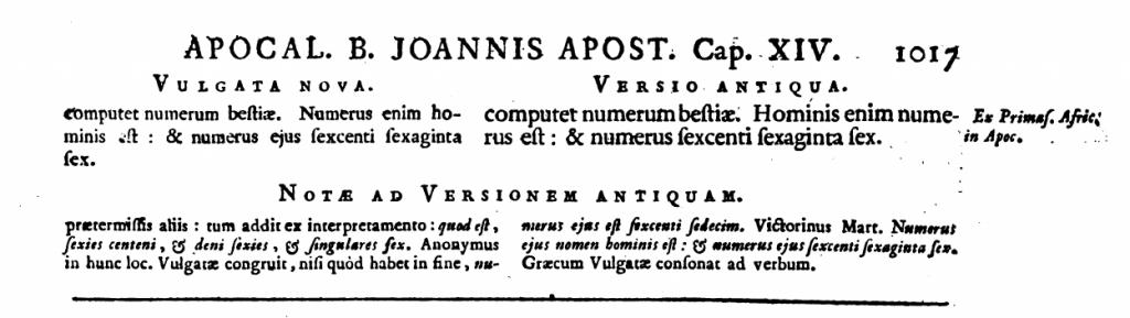 Die Lesarten der Vetus latina zu Offb 13,18