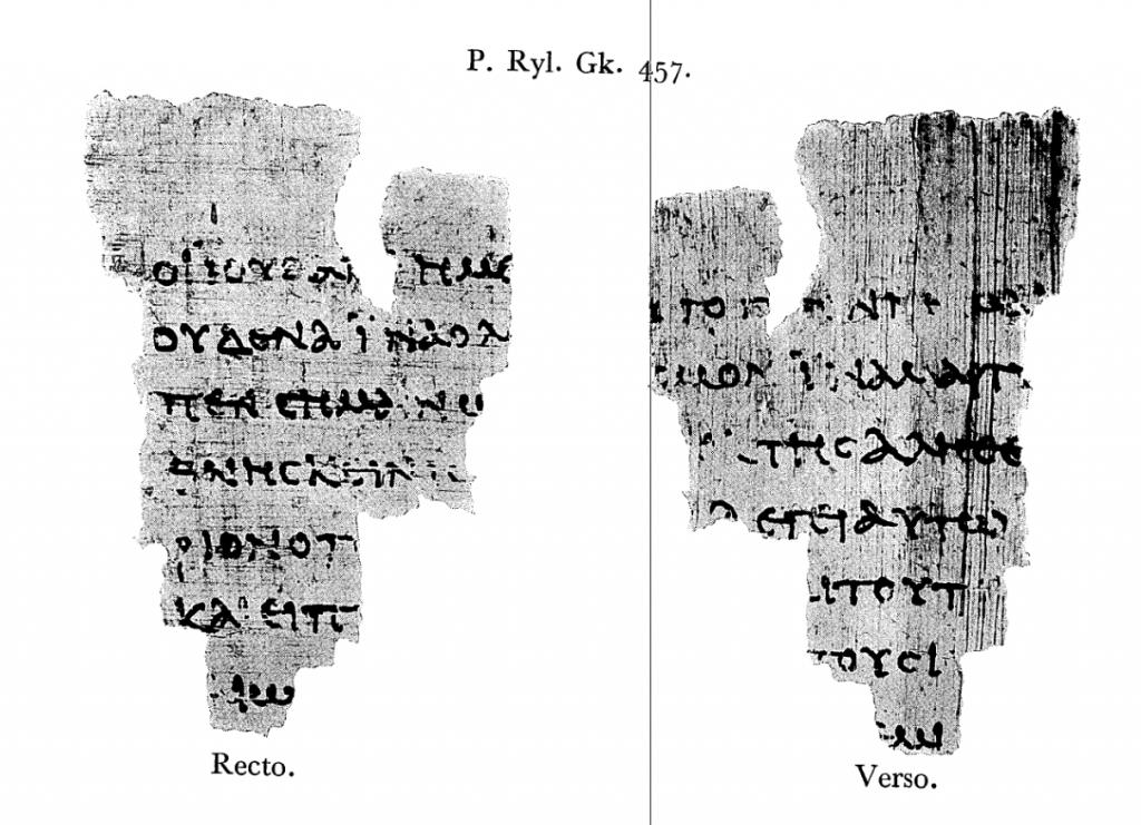 Erstveröffentlichung von Papyrus 52 durch Colin H. Roberts - archive.org