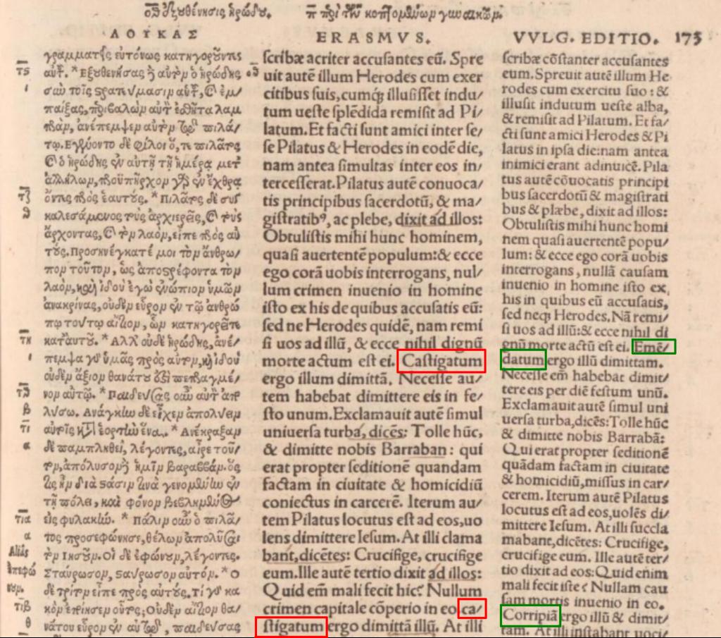 Dritte Auflage des NT von Erasmus (1527)