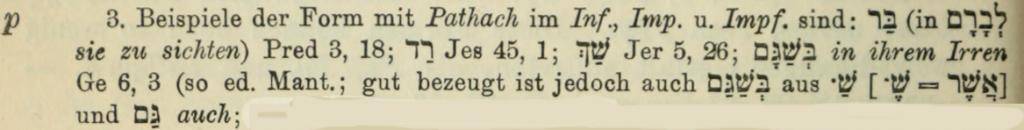 Gesenius Kautzsch 28 § 67p zu Gen 6,3